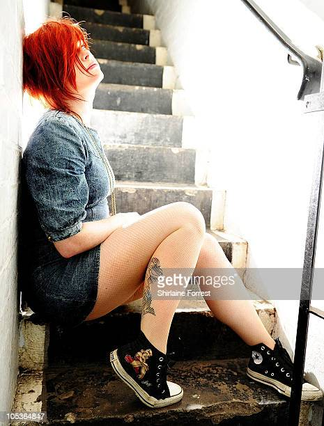 Sian Hayward of Pocketknife poses backstage at Ruby Lounge on day one of 'In The City' on October 13 2010 in Manchester England
