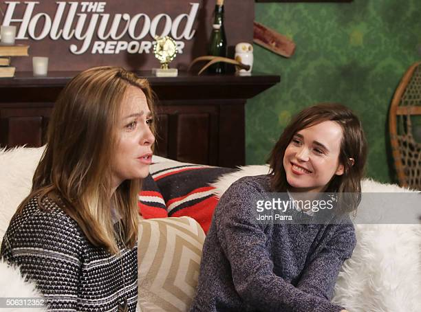 Sian Heder and Ellen Page from the film Tallulah attend The Hollywood Reporter 2016 Sundance Studio at Rock Reilly's Day 1 on January 22 2016 in Park...