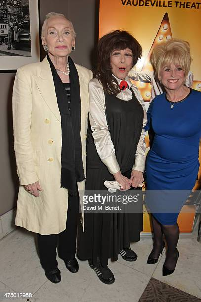 Sian Phillips Fenella Fielding and Barbara Windsor attend an after party following the press night performance of 'Just Jim Dale' at The Waldorf...