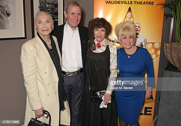Sian Phillips Jim Dale Fenella Fielding and Barbara Windsor attend an after party following the press night performance of 'Just Jim Dale' at The...