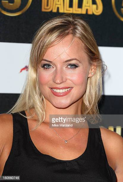 Sian Welby attends party to celebrate the new Channel 5 television series of 'Dallas' at Old Billingsgate on August 21 2012 in London United Kingdom