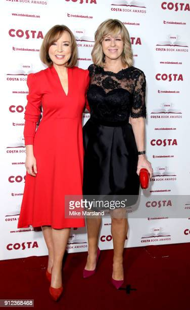 Sian Williams and Kate Garraway attend the 'Costa Book Awards' 2018 at Quaglinoâ™s on January 30 2018 in London Englan
