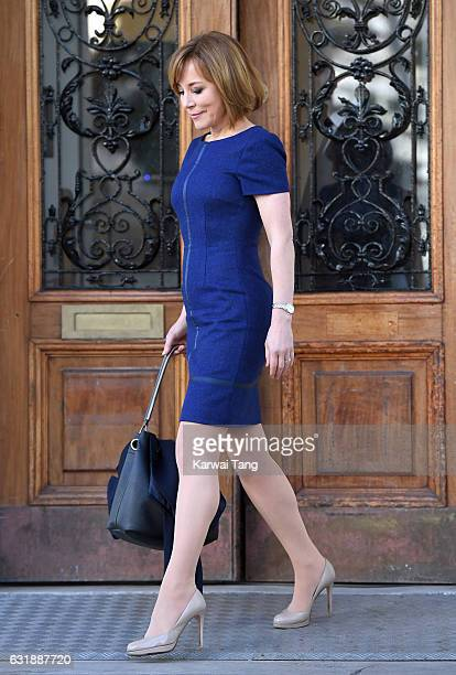 Sian Williams attends a briefing to announce plans for Heads Together ahead of the 2017 Virgin Money London Marathon at ICA on January 17 2017 in...
