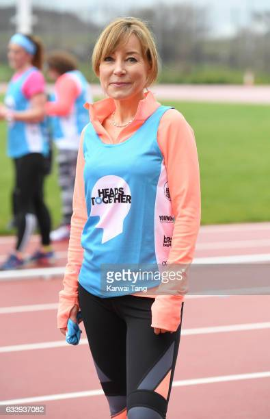 Sian Williams attends a training day for the Heads Together team for the London Marathon at Olympic Park on February 5 2017 in London England