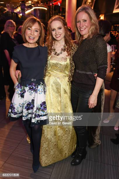 Sian Williams Professor Kate Williams and Sophie Raworth attend the Costa Book Of The Year Award 2016 at Quaglino's on January 31 2017 in London...