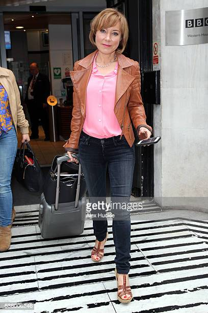 Sian Williams seen at the BBC Radio 2 Studios on May 31 2016 in London England