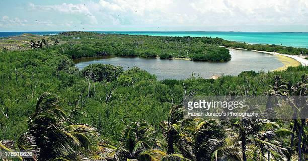 sian''kan,  mayan rivera. - sian ka'an biosphere reserve stock photos and pictures