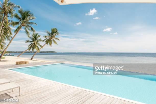 siargao island, philippines - poolside stock pictures, royalty-free photos & images
