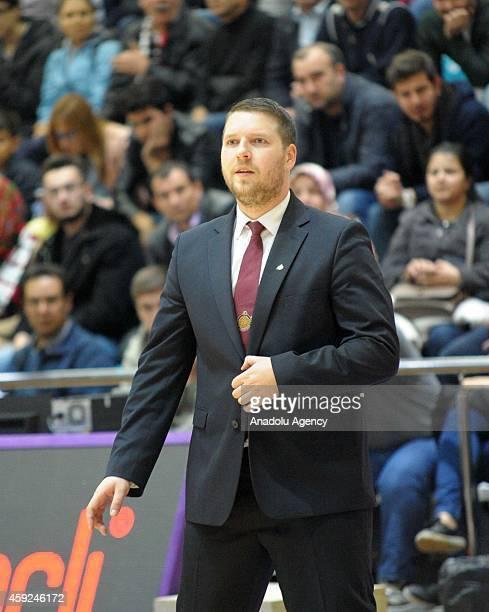 Siauliai's head coach Gediminas Petrauskas during FIBA EuroChallenge Group H basketball match between Usak Sportif and BC Siauliai in Usak, Turkey on...