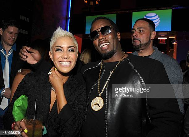 Sib Vicious and Sean 'Diddy' combs attend Beats Music Launch Party At Belasco Theatre at Belasco Theatre on January 24 2014 in Los Angeles California