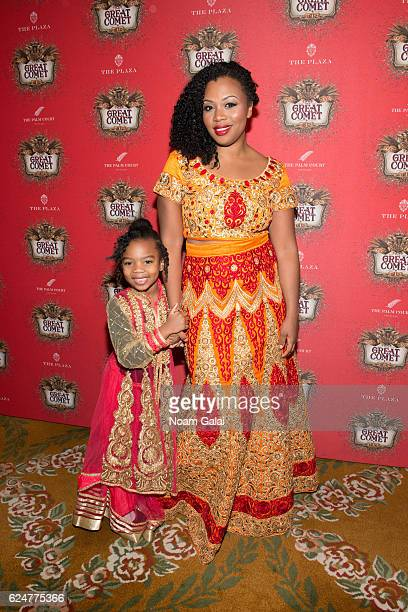 Siba Ali and Sumayya Ali attend the after party for the 'Natasha Pierre The Great Comet Of 1812' opening night on Broadway at The Plaza Hotel on...