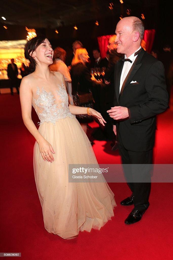 Sibel Kekilli and Peter Nottmeier during the Goldene Kamera 2016 reception on February 6, 2016 in Hamburg, Germany.