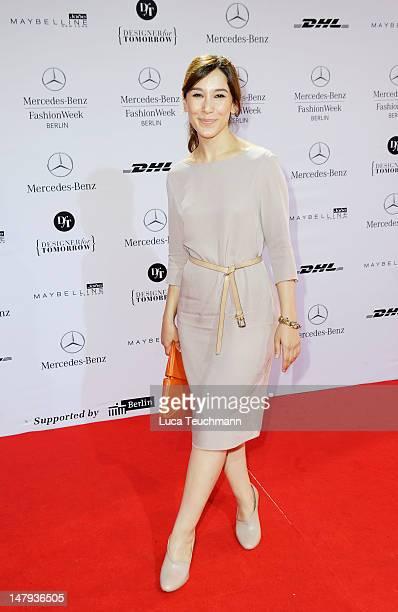 Sibel Kekilli arrives for the Kilian Kerner show during the MercedesBenz Fashion Week Spring/Summer 2013 on July 6 2012 in Berlin Germany