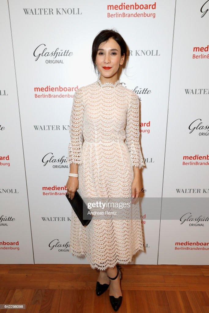 Sibel Kekilli attends the Medienboard Berlin-Brandenburg Reception sponsored by Glashuette Original on February 9, 2017 in Berlin, Germany.