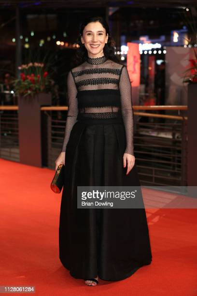 Sibel Kekilli attends the 'The Kindness Of Strangers' premiere during the 69th Berlinale International Film Festival Berlin at Berlinale Palace on...