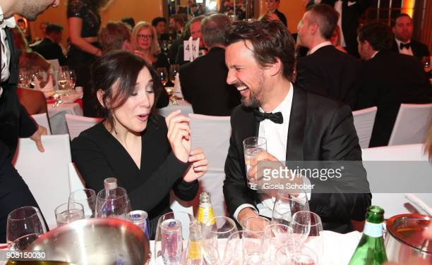 Sibel Kekilli Florian David Fitz during the German Film Ball 2018 party at Hotel Bayerischer Hof on January 20 2018 in Munich Germany