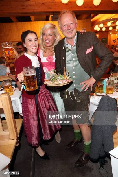 Sibel Kekilli, Judith Milberg and her husband Axel Milberg during the 'Fruehstueck bei Tiffany' at Schuetzenfesthalle at the Oktoberfest on September...