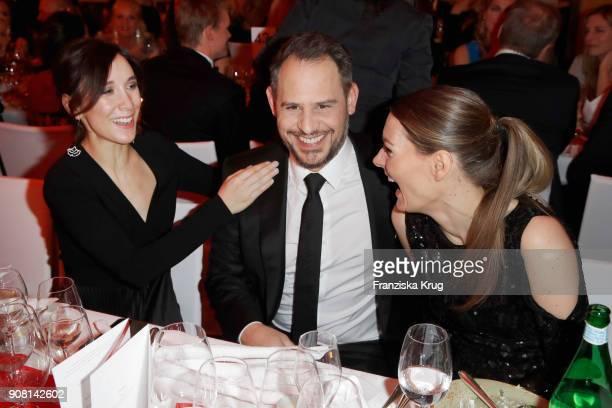 Sibel Kekilli Moritz Bleibtreu and Martina Hill during the German Film Ball 2018 at Hotel Bayerischer Hof on January 20 2018 in Munich Germany