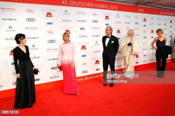 Sibel Kekilli Uschi Glas Dieter Hermann Katja Eichinger and Heike Makatsch attend the German Film Ball 2018 at Hotel Bayerischer Hof on January 20...