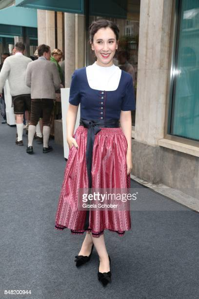 Sibel Kekilli, wearing a dirndl by Amsel Fashion during the 'Fruehstueck bei Tiffany' at Tiffany Store ahead of the Oktoberfest on September 16, 2017...
