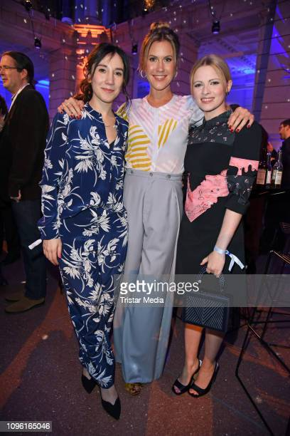 Sibel Kekilli Wolke Hegenbarth and Jennifer Ulrich during the Blue Hour Party hosted by ARD during the 69th Berlinale International Film Festival at...