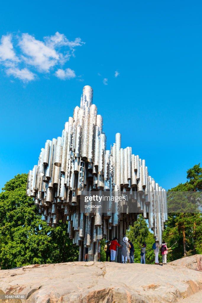 Sibelius Monument in Helsinki : Stock Photo