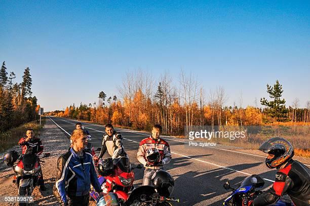 Siberian bikers on the road Pokachi-Langepas.
