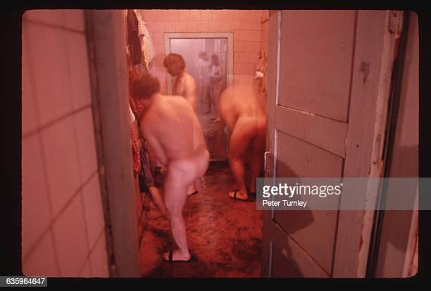 Siberian Coal Miners Showering