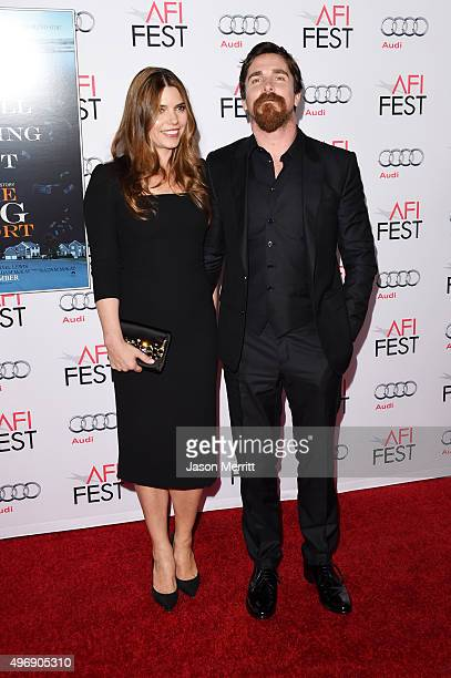 Sibi Blazic and Christian Bale attend the closing night gala premiere of Paramount Pictures' The Big Short during AFI FEST 2015 at TCL Chinese...