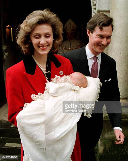 Sibilla and Guillaume of Luxembourg baptise their son PaulLouis