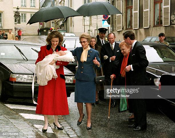 Sibilla of Luxembourg, the Drand Duchess, Guillaume of Luxembourg, Grand Duke Jean & Mme Weiller.