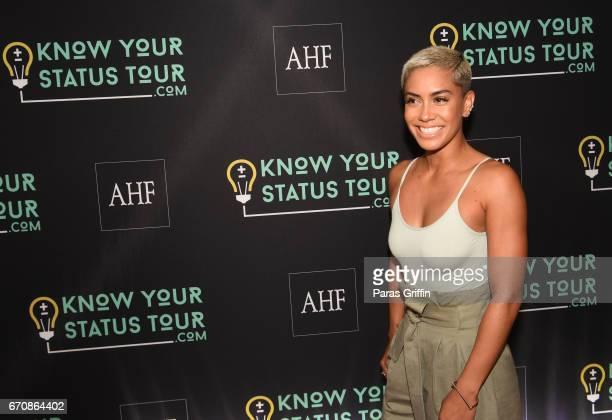 Sibley attends AHF Presents The Know Your Status Tour Atlanta at Clark Atlanta Univeristy on April 20 2017 in Atlanta Georgia