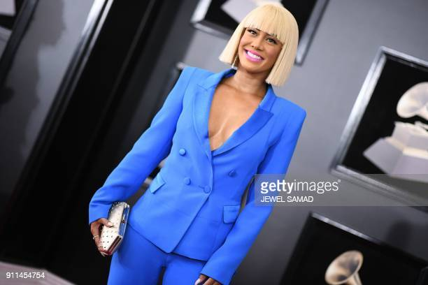 Sibley Scoles arrives for the 60th Grammy Awards on January 28 in New York / AFP PHOTO / Jewel SAMAD