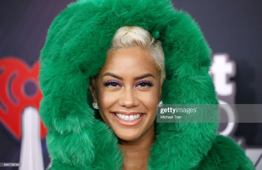 Sibley Scoles arrives to the 2018 iHeartRadio Music Awards held at The Forum on March 11, 2018 in Inglewood, California.
