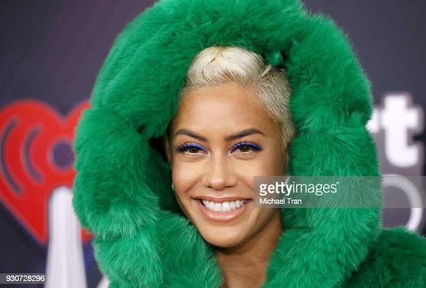 Sibley Scoles arrives to the 2018 iHeartRadio Music Awards held at The Forum on March 11 2018 in Inglewood California