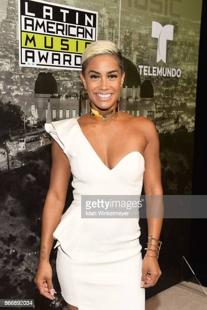 Sibley Scoles attends 2017 Latin American Music Awards at Dolby Theatre on October 26 2017 in Hollywood California
