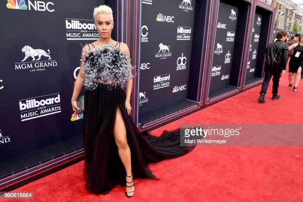 Sibley Scoles attends the 2018 Billboard Music Awards at MGM Grand Garden Arena on May 20 2018 in Las Vegas Nevada