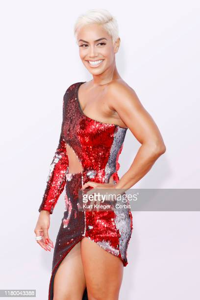 Sibley Scoles photographed on the red carpet of the 2018 American Music Awards at the Microsoft Theater on October 9 2018 in Los Angeles California