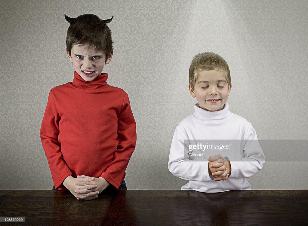 Sibling Personalities : Stock Photo