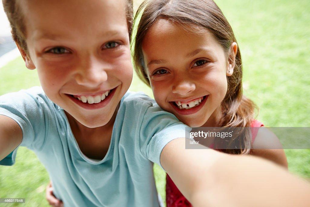 Sibling selfie : Stock Photo