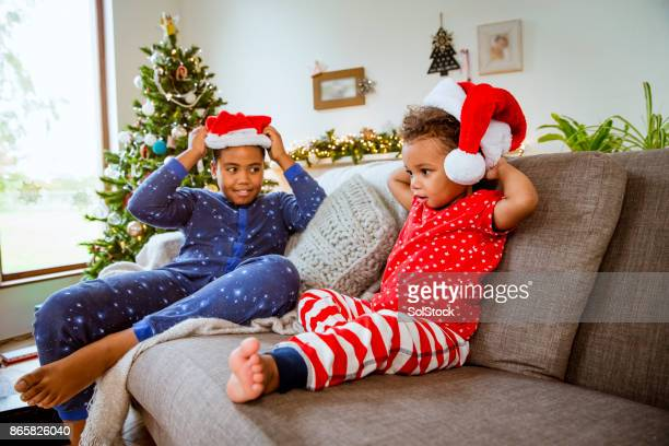 Siblings at Home Over Christmas Holidays