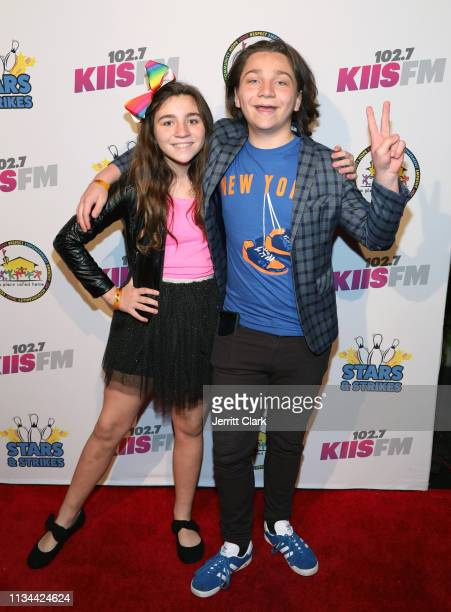 Siblings Brooklyn and Bryson Robinson attend A Place Called Home's Annual Stars And Strikes Celebrity Bowling And Poker Tournament at PINZ Bowling &...