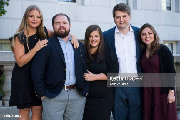 Siblings from left Angela Hervig Daniel Hervig Janelle Relfe her husband Mitch Relfe and Mary Beth Hervig also a sister are photographed outside of...