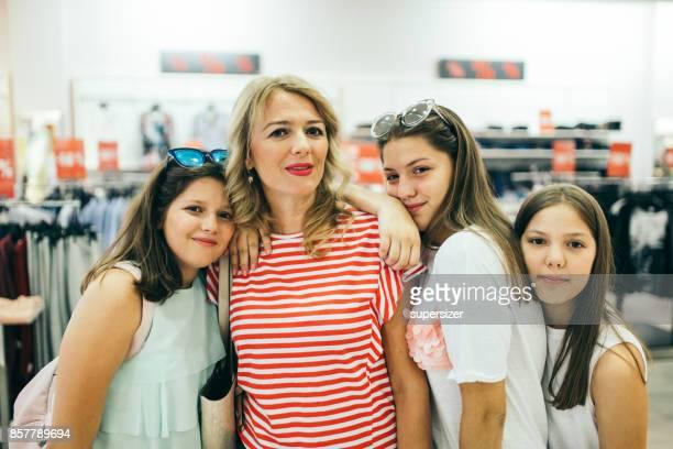 Siblings go shoping