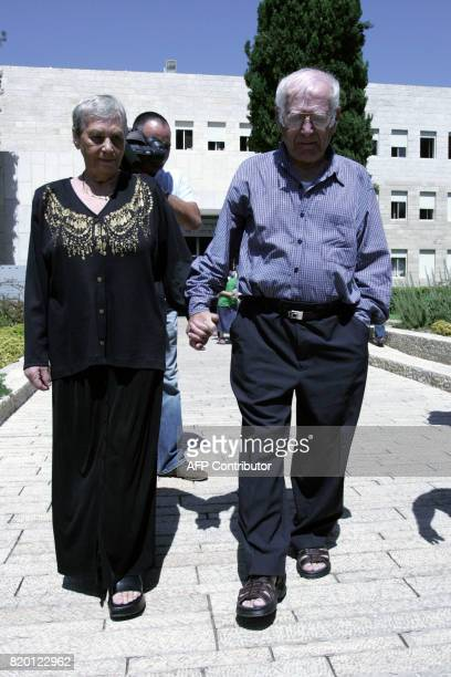 Siblings Hilda Shlick of Ashdod in southern Israel and Simon Glasberg of Ottawa Canada walk in the grounds of the Yad Vashem Holocaust Museum complex...