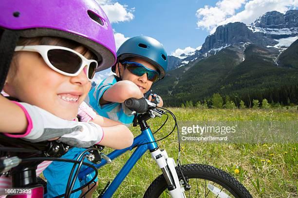 兄弟味わうには、バイクの眺めを楽しみながら、