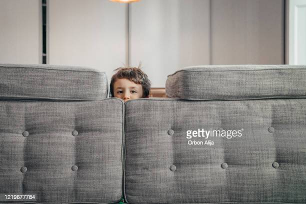 siblings playing at home during the covid-19 quarantine - cushion stock pictures, royalty-free photos & images