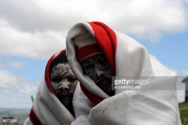 Sibongile Khumalo A picture taken on November 20, 2009 of young boys from the Xhosa tribe attending a traditional initiation school in Libode in the...
