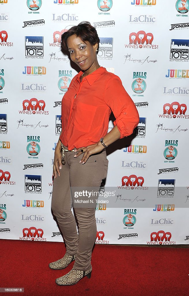 Sibrena Stowe De Fernandez attends 'Jerseylicious' Season 5 Premiere Party at Midtown Sutton on January 28, 2013 in New York City.