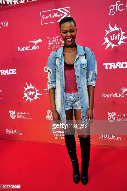 Sibusisiwe Jili during Five Fingers for Marseilles movie premiere at the Market Theatre on March 08 2018 in Johannesburg South Africa After its world...